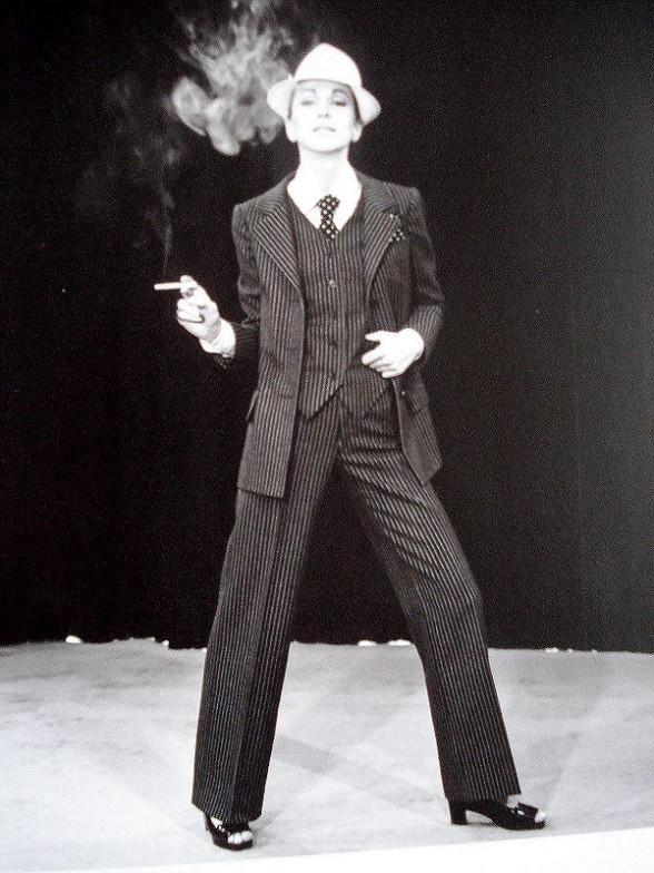 YSL'S 1967 PINSTRIPE PANTSUIT