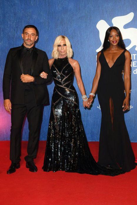 Ricardo Tisci, Donatella Versace and Naomi Campbell