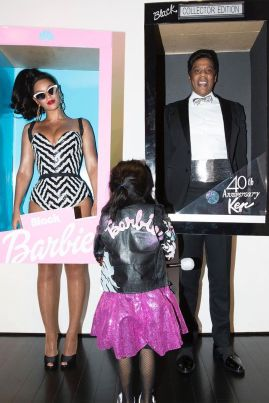 Jay Z dressed as the Ken to Beyoncé's Barbie