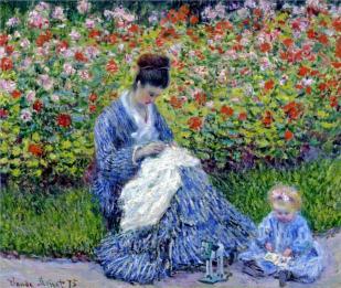 Madame Monet and child