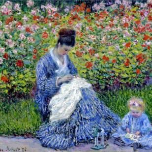 Madame Monet and child
