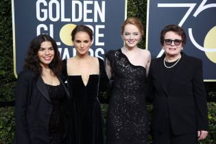 America Ferrera, Natalie Portman, Emma Stone, and Billie Jean King