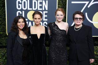 America Ferrera, Natalie Portman, Emma Stone, and Billie Jean King